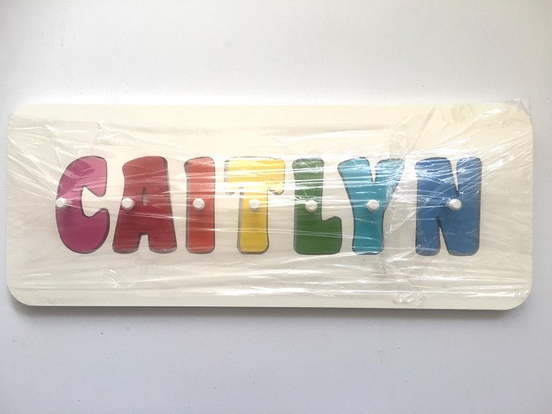 Personalised CAITLYN Puzzle (rainbow colours)