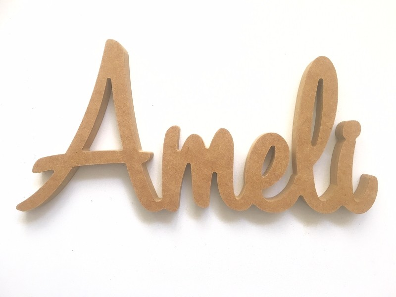 Wooden Freestanding AMELI Name  - 30cm long x 15cm high