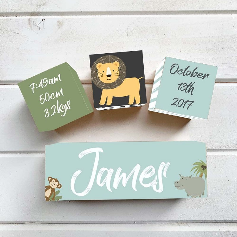 Jungle Wooden Birth Block
