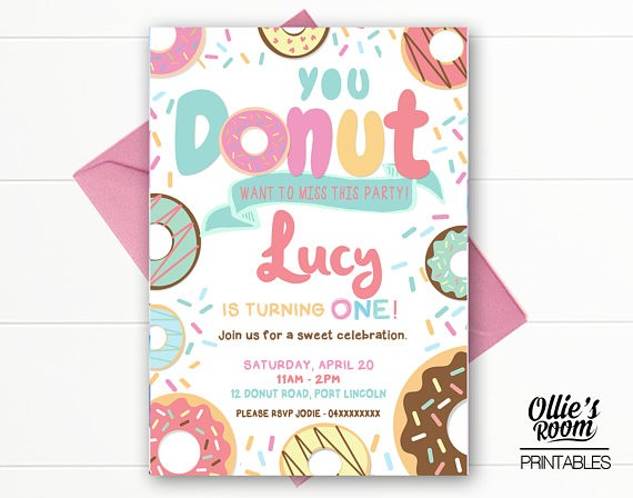 Donut Birthday Invitation - Donut Miss this Party