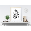 This home is built on chaos and love print - White Background