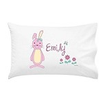 Baby Bunnies Girls Personalised Pillow Case
