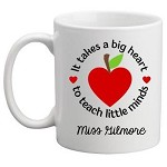 Personalised Teacher Mug It Takes A Big Heart