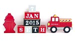 Fire Truck Personalised Block Set