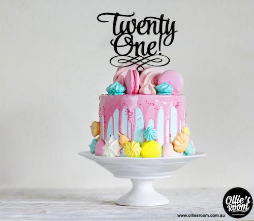Twenty One Birthday Cake Topper, Christening, Anniversary ...
