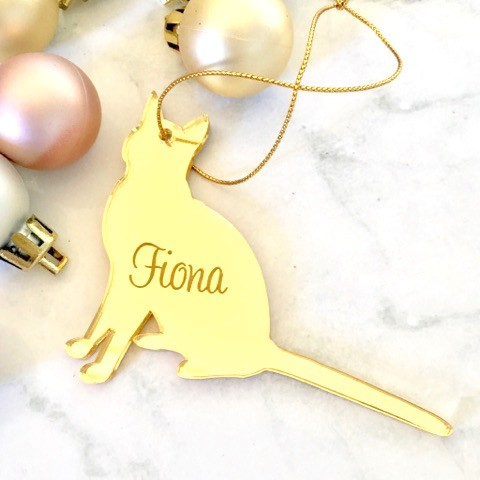 SALE - FIONA Cat Christmas Ornament
