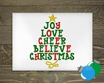 Glass Cutting Board - Christmas Tree