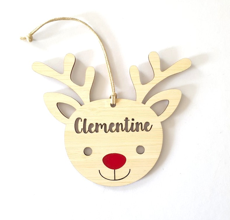 Red Nose Rudolph Personalised Christmas Ornament