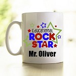 Personalised Teacher Mug Educational Rockstar 1