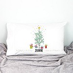 Eucalyptus  Personalised Christmas Pillow Case