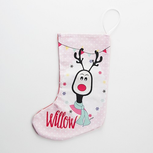 personalised christmas stocking girls reindeer - Girls Christmas Stocking