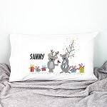 Koala and Kangaroo Personalised Christmas Pillow Case