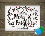 Glass Cutting Board - Merry and Bright