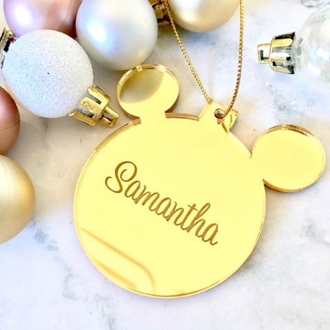 Sale Samantha Mickey Mouse Christmas Ornament Gold
