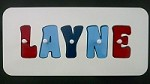 Personalised Wooden Jigsaw Puzzle  - Red, Sky Blue, Navy Blue