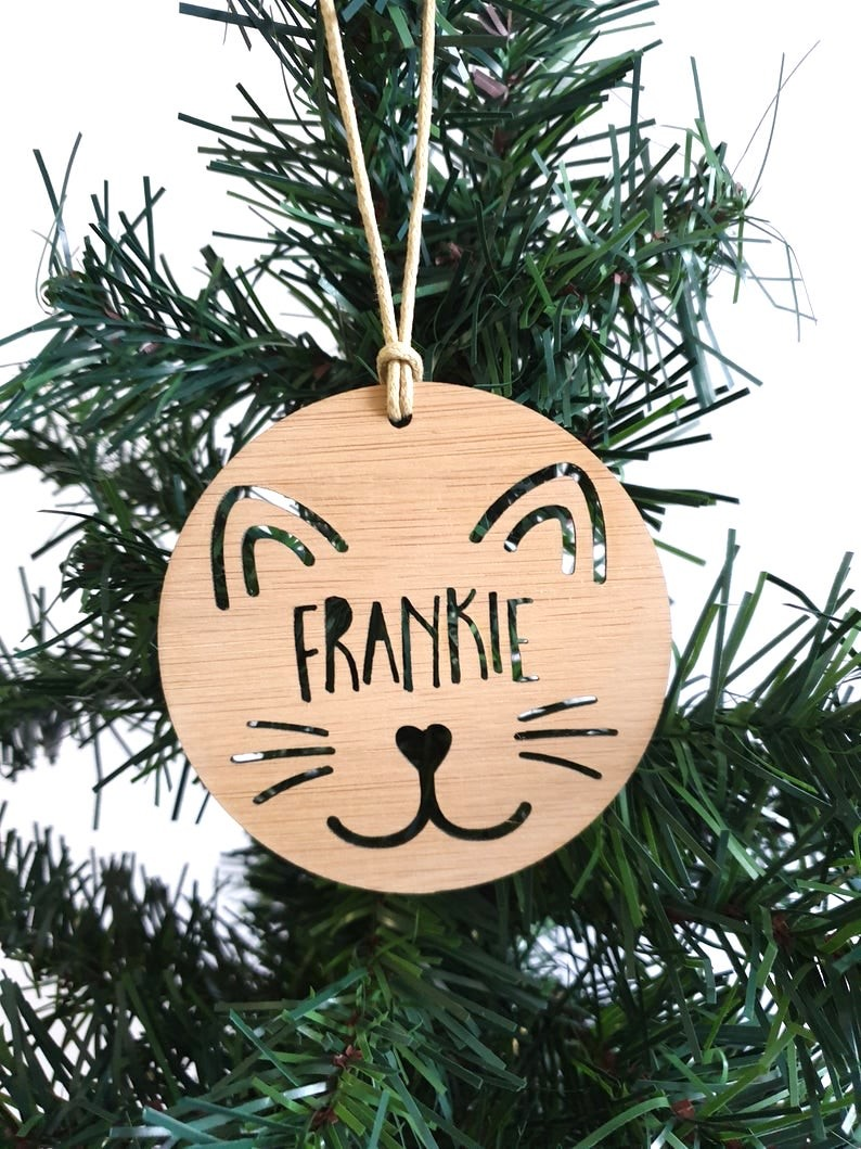 Cat Kitten Personalised Christmas Ornament