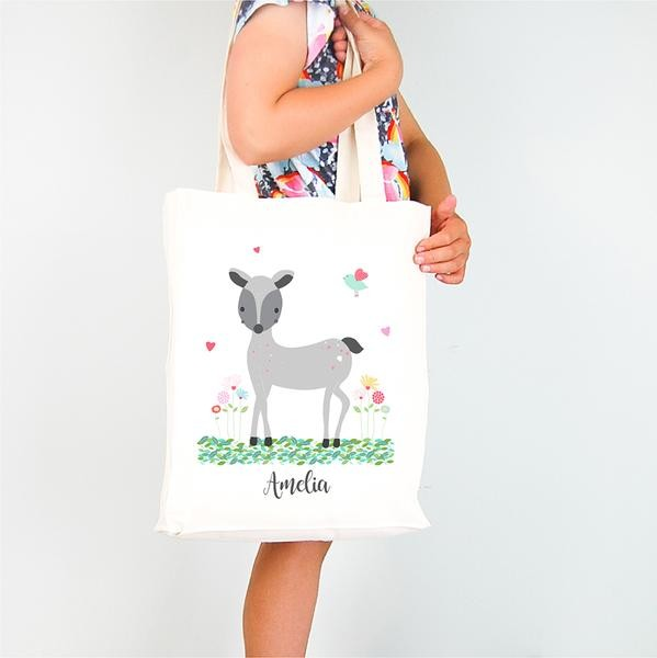 Personalised Woodland Deer Design TOTE Bag