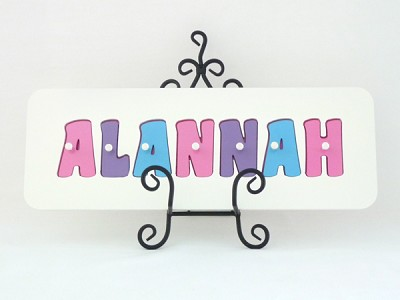 Personalised Wooden Name Jigsaw Puzzle Girls Name Puzzle