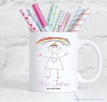 Personalised Teacher Mug - Kids Drawing