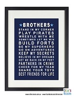 BROTHERS Poster Print