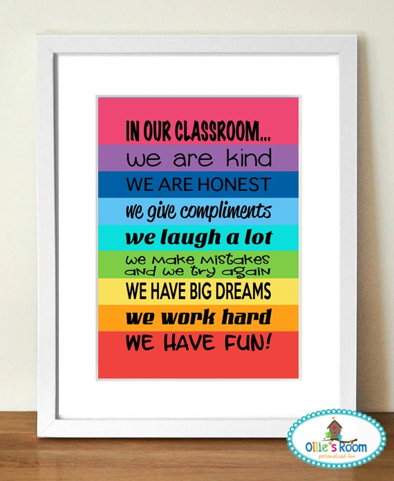 A3 Size Rainbow IN MY CLASSROOM  Poster Print