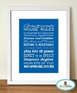 Grandparents Rules Poster (PRINT YOURSELF)