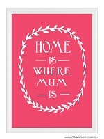 Mother's Day - Home is where Mum is Print  PRINT YOURSELF