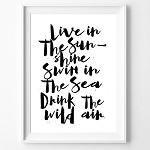 Print - Live In The Sunshine (white)
