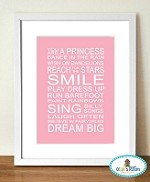 YOU ARE A PRINCESS Poster Print