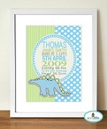 Personalised Birth Print (Boys design)