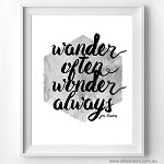 Print - Wander Often, Wonder Always