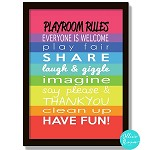 Playroom Rules Poster Print