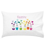 Rainbow Hearts Personalised Pillow Case