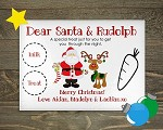 Personalised Glass Santa's Christmas Eve Treat Placemat