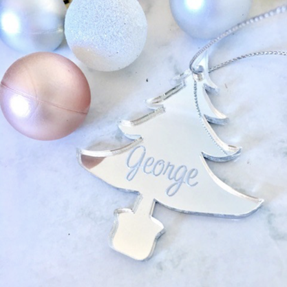 SALE - GEORGE TREE Christmas Ornament SILVER