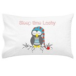 Boys Sleep Time Owl Personalised Pillow Case