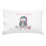 Girls Sleep Time Owl Personalised Pillow Case