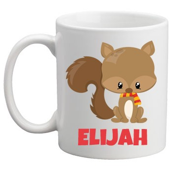 Boys Personalised Mug Squirrel