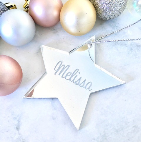 SALE - MELISSA Star Christmas Ornament SILVER