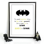 Print - Always be Batman  (coloured version)