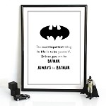 Print - Always be Batman
