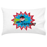 Boys Superhero Personalised Pillow Case