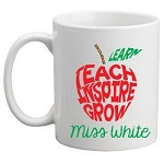 Personalised Teacher Mug Teach Inspire Grow