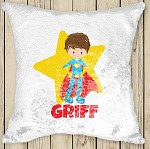 Personalised SUPERHERO Sequinned Cushion