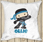 Personalised NINJA Sequinned Cushion