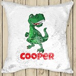 Personalised DINOSAUR Sequinned Cushion