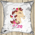 Personalised HORSE Sequinned Cushion