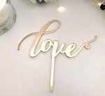 Wedding Cake Topper - LOVE