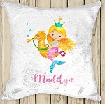 Personalised MERMAID Sequinned Cushion