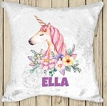 Personalised UNICORN Sequinned Cushion